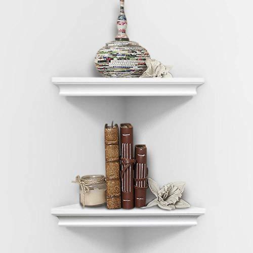 AHDECOR White Corner Wall Shelves Wall Mounted Floating Corner Shelf For Home Dcor 2 Pack 0