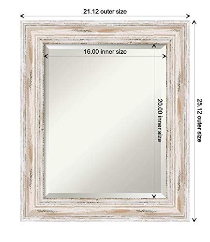 Small Mirror Solid Wood Mirror Bathroom Mirrors For Wall Alexandria White Wash Mirror Frame Framed Vanity