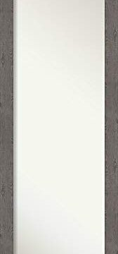 Amanti Art Full Length Mirror Rustic Plank Grey Narrow Mirror Full Length Full Body Mirror On The Door Mirror 1725 X 5125 0 168x360