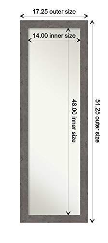 Amanti Art Full Length Mirror Rustic Plank Grey Narrow Mirror Full Length Full Body Mirror On The Door Mirror 1725 X 5125 0 2