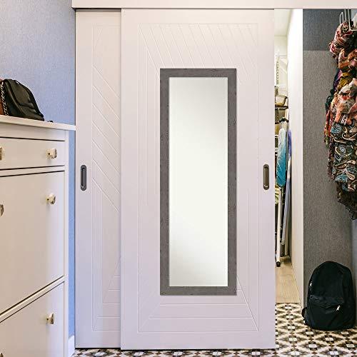 Amanti Art Full Length Mirror Rustic Plank Grey Narrow Mirror Full Length Full Body Mirror On The Door Mirror 1725 X 5125 0 3