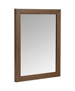 AmazonBasics Rectangular Wall Mirror 16 X 20 Standard Trim Walnut 0 300x360
