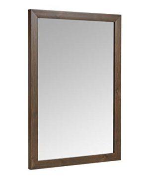 AmazonBasics Rectangular Wall Mirror 20 X 28 Standard Trim Walnut 0 300x360