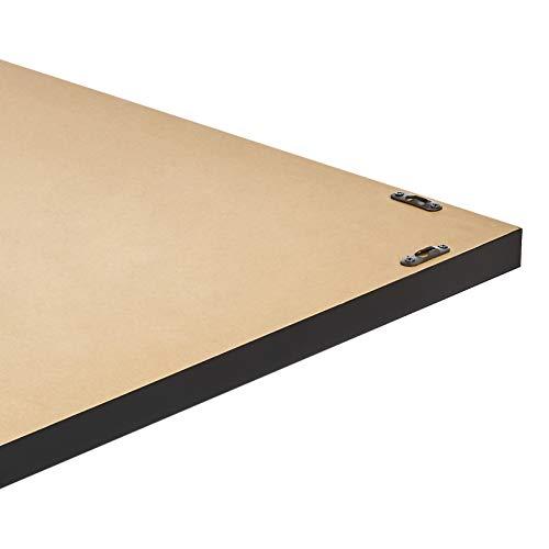 AmazonBasics Rectangular Wall Mirror 24 X 36 Peaked Trim Black 0 2