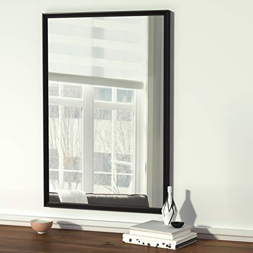 AmazonBasics Rectangular Wall Mirror 24 X 36 Peaked Trim Black 0 4