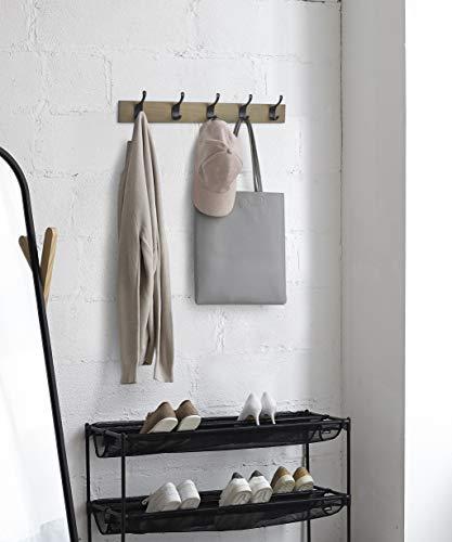 AmazonBasics Wall Mounted Coat Rack 5 Modern Hooks Barnwood 0 3