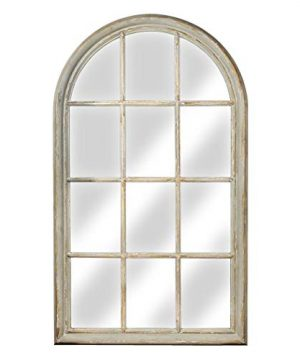 American Art Decor Rustic Shabby Chic Cathedral Arch Wood Wall Vanity Mirror Country Farmhouse Decor 535 H X 3125 L X 15 D 0 300x360
