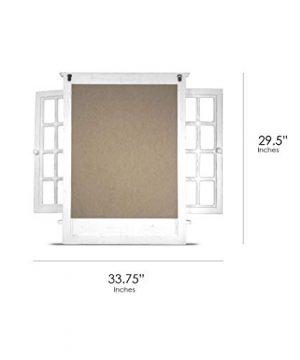 American Art Decor Window Shutter Wall Vanity Mirror With Key Hooks Rustic Country Farmhouse Decor 295 H X 2225 L X 4 D 0 1 300x360