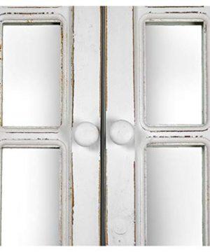 American Art Decor Window Shutter Wall Vanity Mirror With Key Hooks Rustic Country Farmhouse Decor 295 H X 2225 L X 4 D 0 3 300x360