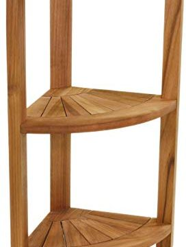 AquaTeak Kai Petite Teak Corner Shower Storage Stand 0 272x360