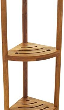 AquaTeak The Original Kai Corner Teak Bath Shelf 0 212x360