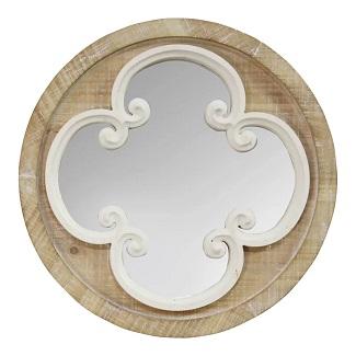 Ashbaugh Wood Modern Accent Mirror