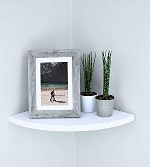 Ballucci Floating Radial Corner Shelf 12 X 12 Inch White 0 0 300x333