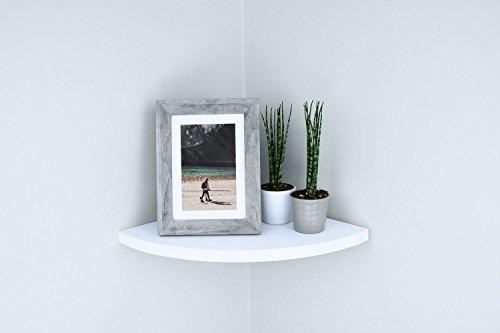 Ballucci Floating Radial Corner Shelf 12 X 12 Inch White 0 0