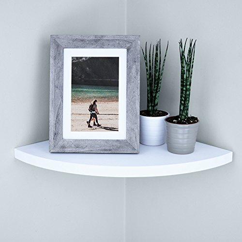 Ballucci Floating Radial Corner Shelf 12 X 12 Inch White 0