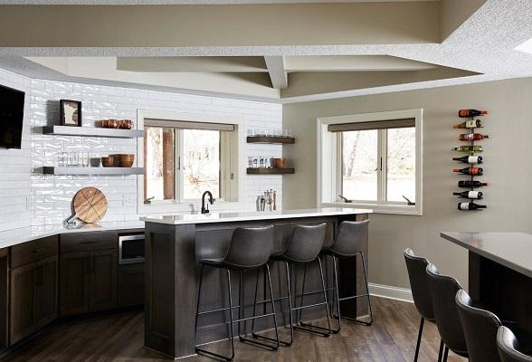Basement Bar by R-House Design Build