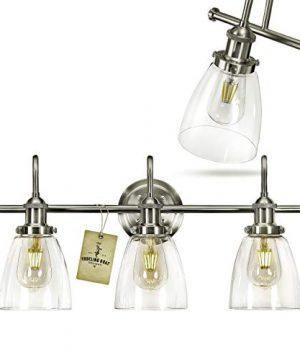 Bathroom Vanity Light Fixtures Brushed Nickel Vanity Light Farmhouse Bathroom Lighting Fixtures Over Mirror 0 300x360
