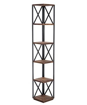 Belmont Home Edmonds Wood And Metal 66 Corner Shelf 0 300x360