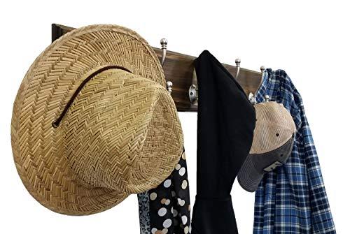 Brookside Wall Mounted Coat Hooks Towel Hooks Clothing Hooks Garment Hooks Customizable Number Of Hatboro Double Hooks Available In 20 Colors Dark Walnut 0 1