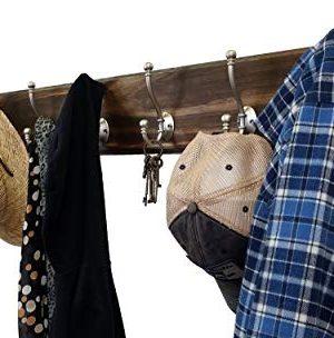 Brookside Wall Mounted Coat Hooks Towel Hooks Clothing Hooks Garment Hooks Customizable Number Of Hatboro Double Hooks Available In 20 Colors Dark Walnut 0 6 300x304