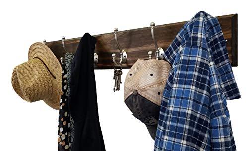 Brookside Wall Mounted Coat Hooks Towel Hooks Clothing Hooks Garment Hooks Customizable Number Of Hatboro Double Hooks Available In 20 Colors Dark Walnut 0 6
