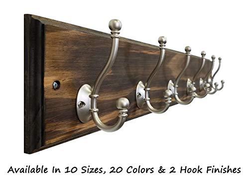 Brookside Wall Mounted Coat Hooks Towel Hooks Clothing Hooks Garment Hooks Customizable Number Of Hatboro Double Hooks Available In 20 Colors Dark Walnut 0