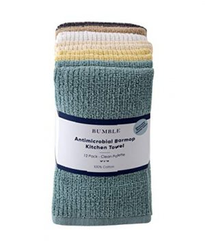 Bumble 12 Pack Antimicrobial Barmop Kitchen Towels 16 X 19 Premium Kitchen TowelsSuper Absorbent Heavy Weight CottonRibbed Weave Clean 0 300x360