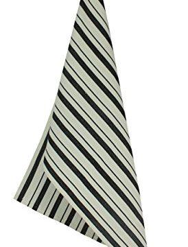 COTTON CRAFT 4 Pack Basket Weave Kitchen Towels Black 100 Cotton Oversized 20x30 Modern Clean Striped Pattern Convenient Hanging Loop 0 2 274x360