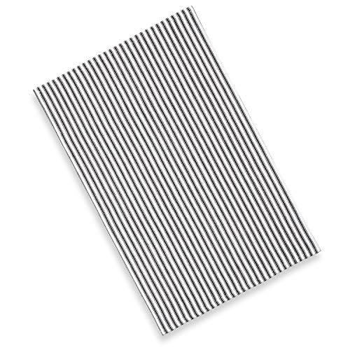 Cackleberry Home Black And White Ticking Stripe Kitchen Towels 18 X 28 Inches 100 Cotton Woven Set Of 3 0 0