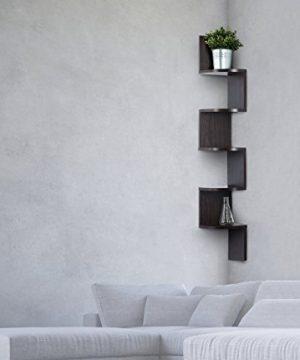 Corner Shelf Espresso Finish Corner Shelf Unit 5 Tier Corner Shelves Can Be Used For Corner Bookshelf Or Any Decor By Sagler 0 0 300x360