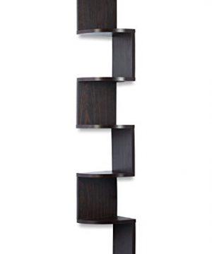 Corner Shelf Espresso Finish Corner Shelf Unit 5 Tier Corner Shelves Can Be Used For Corner Bookshelf Or Any Decor By Sagler 0 1 300x360
