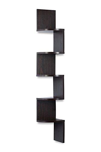 Corner Shelf Espresso Finish Corner Shelf Unit 5 Tier Corner Shelves Can Be Used For Corner Bookshelf Or Any Decor By Sagler 0 1