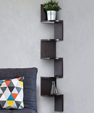 Corner Shelf Espresso Finish Corner Shelf Unit 5 Tier Corner Shelves Can Be Used For Corner Bookshelf Or Any Decor By Sagler 0 300x360