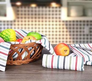 Cote De Amor Kitchen Dish Towels 4 Pack 100 Cotton Oversized 20x28 Bar Towels Tea Towels Cleaning Towels Everyday Modern Farmhouse Kitchen Towels With Hanging Loop Multi Colors 0 1 300x264
