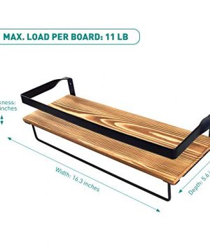 Creativefine Floating Shelves Wall Mounted Set Of 3 Rustic Solid Wood Wall Shelf For Farmhouse Style Bedroom Living Room Kitchen Pine 0 5 300x360