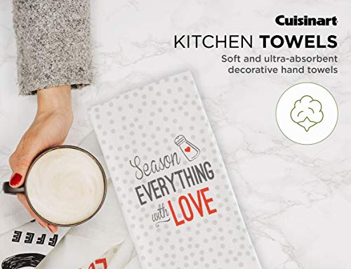 Cuisinart 100 Cotton Printed Kitchen Hand Towels 2pk Soft And Absorbent Decorative Kitchen Towels Perfect For Drying Dishes And Hands Machine Washable Kitchen Towel Set 16 X 28 Season Everything 0 0