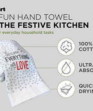 Cuisinart 100 Cotton Printed Kitchen Hand Towels 2pk Soft And Absorbent Decorative Kitchen Towels Perfect For Drying Dishes And Hands Machine Washable Kitchen Towel Set 16 X 28 Season Everything 0 1 300x360