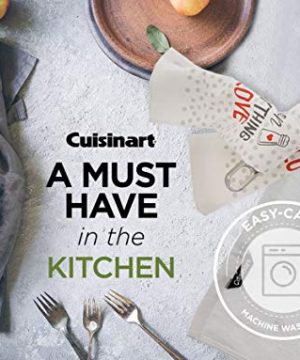 Cuisinart 100 Cotton Printed Kitchen Hand Towels 2pk Soft And Absorbent Decorative Kitchen Towels Perfect For Drying Dishes And Hands Machine Washable Kitchen Towel Set 16 X 28 Season Everything 0 2 300x360