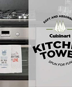 Cuisinart 100 Cotton Printed Kitchen Hand Towels 2pk Soft And Absorbent Decorative Kitchen Towels Perfect For Drying Dishes And Hands Machine Washable Kitchen Towel Set 16 X 28 Season Everything 0 5 300x360