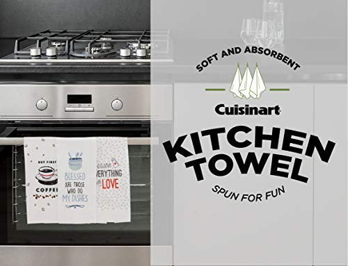 Cuisinart 100 Cotton Printed Kitchen Hand Towels 2pk Soft And Absorbent Decorative Kitchen Towels Perfect For Drying Dishes And Hands Machine Washable Kitchen Towel Set 16 X 28 Season Everything 0 5