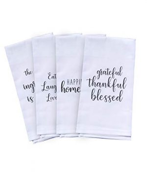 Cute Kitchen Towels Set 4 Kitchen Towels With Printed Designs White Hand Towels Or Dish Towels Go With Any Decor Perfect For Housewarming Gift Valentines Mothers Day Birthday 0 300x360