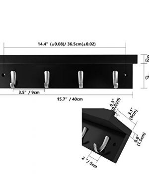 DOKEHOM 4 Satin Nickel Hooks 4 Colors On Wooden Board With Shelf Coat Rack Hanger Mail Box Packing Black 0 0 300x360
