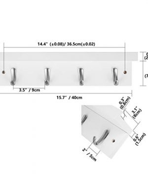 DOKEHOM 4 Satin Nickel Hooks 4 Colors On Wooden Board With Shelf Coat Rack Hanger Mail Box Packing White 0 0 300x360