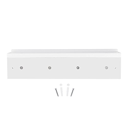 DOKEHOM 4 Satin Nickel Hooks 4 Colors On Wooden Board With Shelf Coat Rack Hanger Mail Box Packing White 0 3