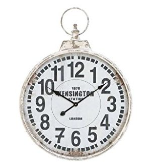 Deco 79 52118 Metal Wall Clock 32x24 0 300x333