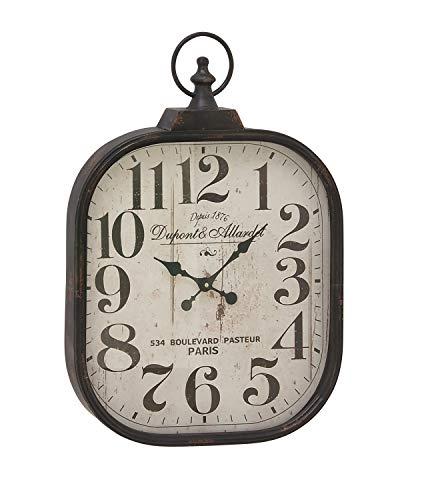 Deco 79 52560 Metal Glass Wall Clock 18 X 26 0 0
