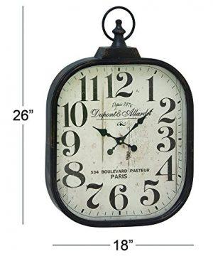 Deco 79 52560 Metal Glass Wall Clock 18 X 26 0 1 300x360