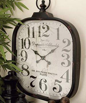 Deco 79 52560 Metal Glass Wall Clock 18 X 26 0 300x360