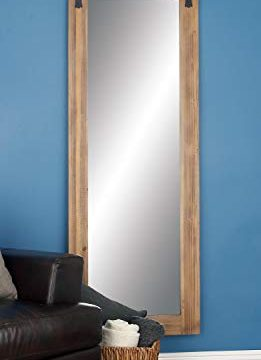 Deco 79 84247 Framed Wood And Metal Wall Mirror 70 X 32 BrownBlack 0 261x360