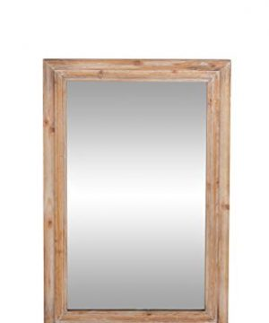Deco 79 Natural Rectangular Wall Mirror 1 W X 35 H Brown Reflective 0 300x360